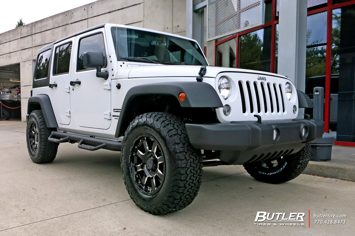 Jeep Wrangler with 18in Black Rhino Sierra Wheels ...