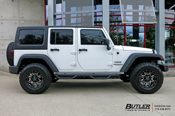 Jeep Wrangler with 18in Black Rhino Sierra Wheels