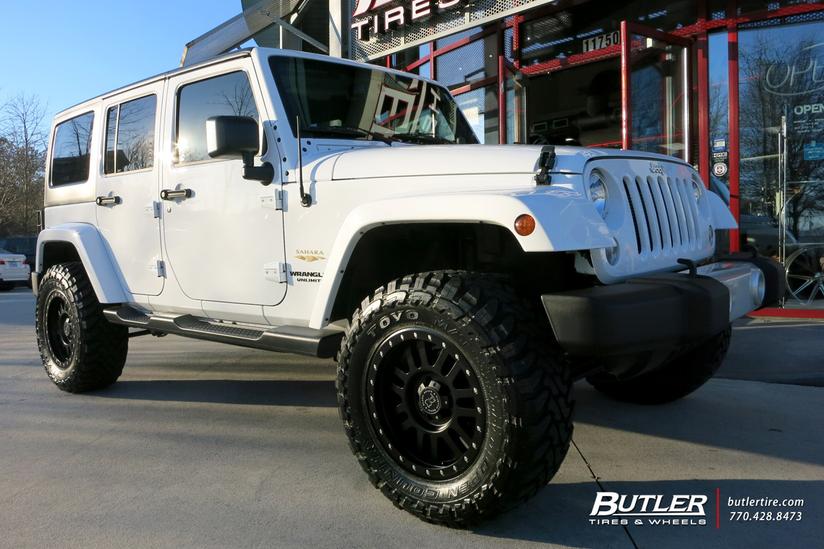 Jeep Wrangler With In Black Rhino Tanay Wheels Extra Large