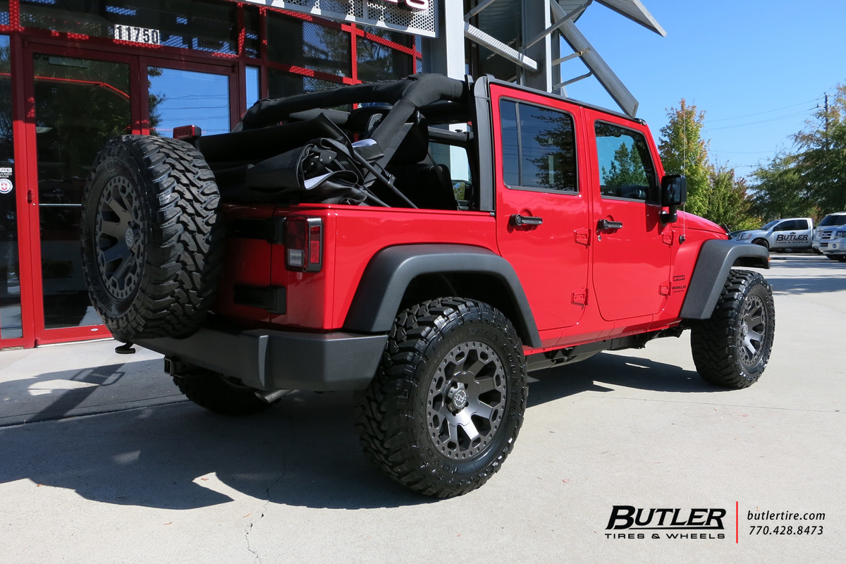 Jeep Wrangler Rims And Tire Packages >> Jeep Wrangler with 18in Black Rhino Warlord Wheels ...