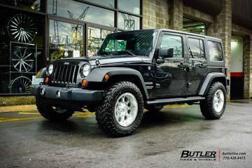 Jeep Wrangler with 18in Fuel Krank Wheels