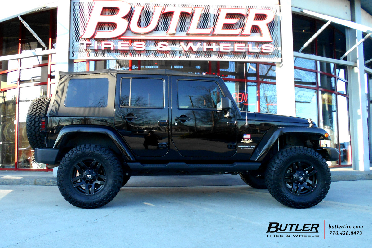 Jeep Wrangler With 18in Fuel Pump Wheels Exclusively From