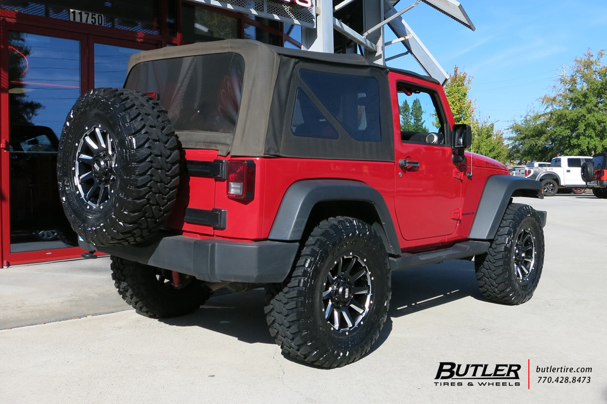 Jeep Wrangler with 18in Grid Offroad GD5 Wheels
