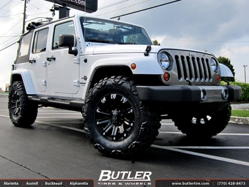 Jeep Wrangler with 18in Monster Energy Wheels