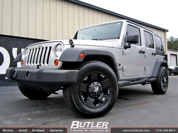 Jeep Wrangler with 18in XD Rockstar Wheels
