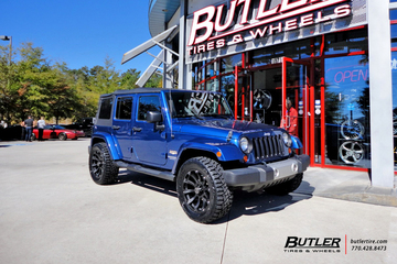 Jeep Wrangler with 20 Black Rhino Sidewinder Wheels