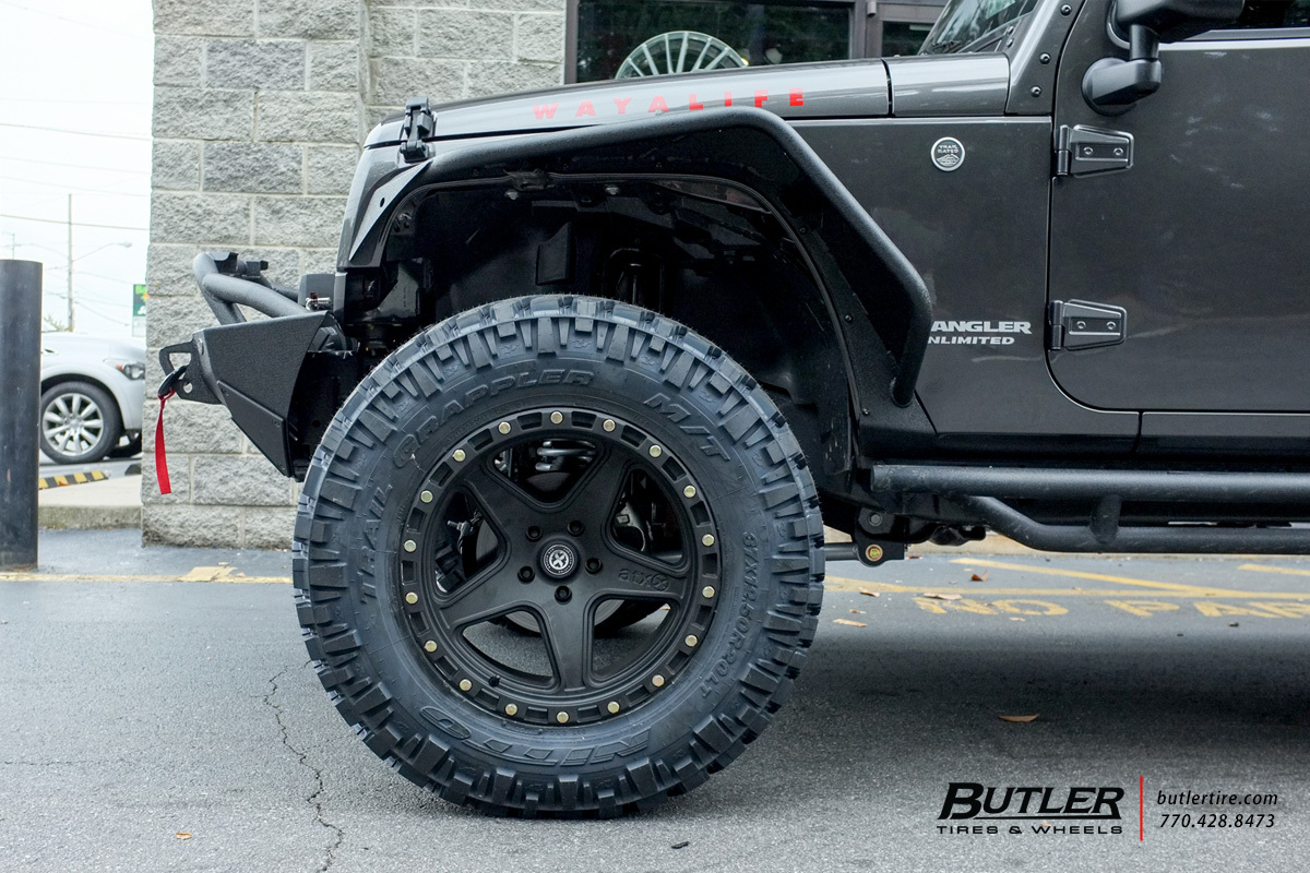Jeep Wrangler With 20in Atx Ravine Wheels Exclusively From