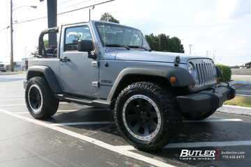 Jeep Wrangler with 20in Black Rhino 500 Wheels