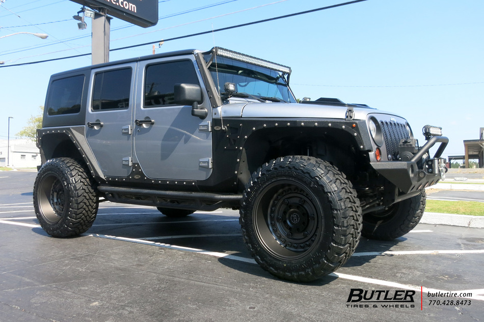 Jeep Wrangler With 20in Black Rhino Armory Wheels