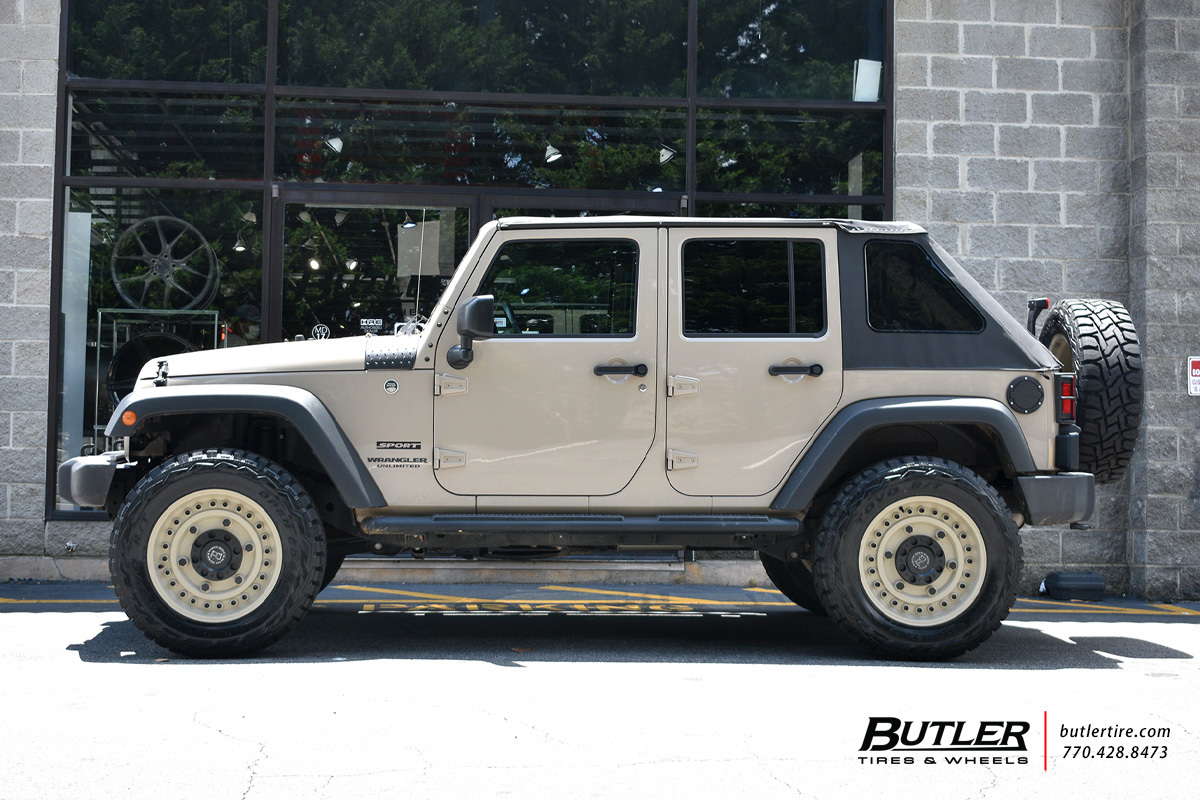 Jeep Wrangler with 20in Black Rhino Armory Wheels