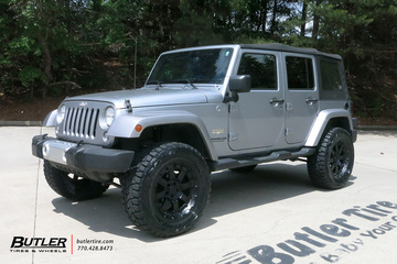 Jeep Wrangler with 20in Black Rhino Cleghorn Wheels