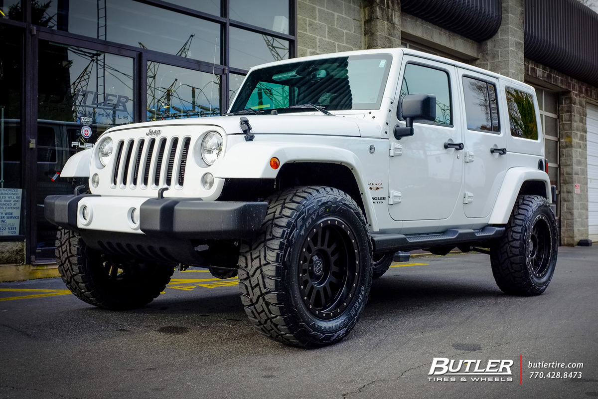 Jeep Wrangler with 20in Black Rhino El Cajon Wheels ...
