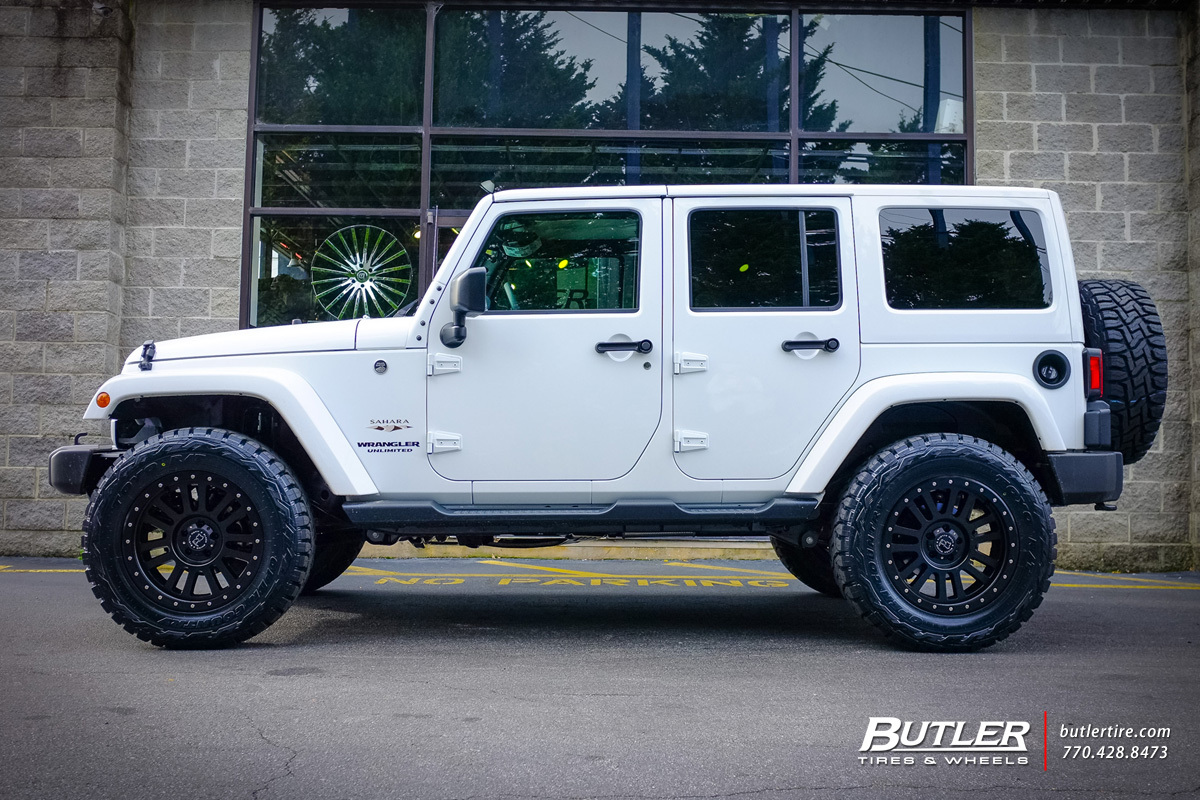 Jeep Wrangler with 20in Black Rhino El Cajon Wheels