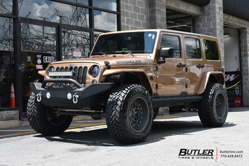 Jeep Wrangler with 20in Black Rhino Fury Wheels