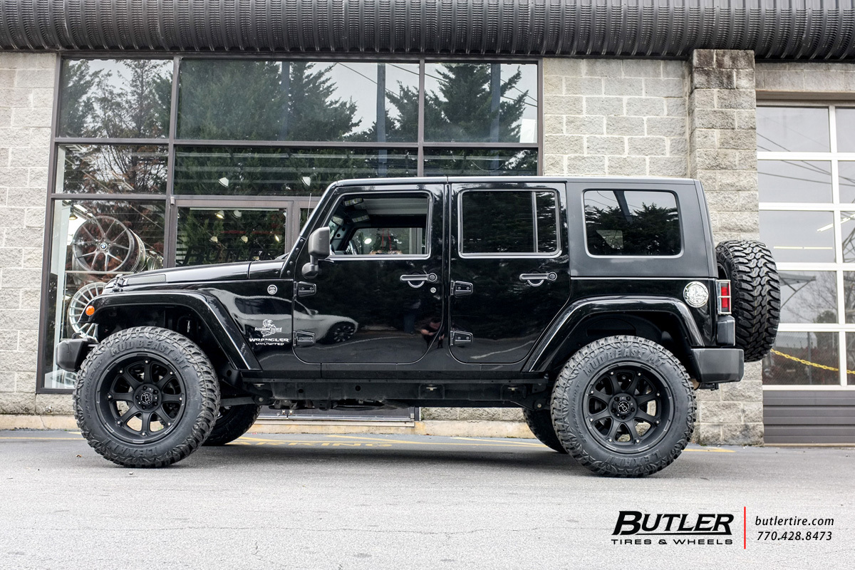 Jeep Wrangler with 20in Black Rhino Glamis Wheels ...
