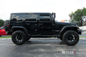 Jeep Wrangler with 20in Black Rhino Grimlock Wheels