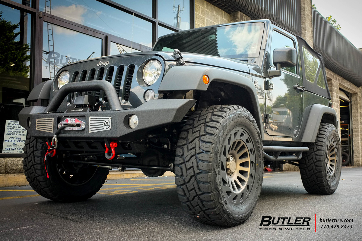Jeep Wrangler with 20in Black Rhino Madness Wheels ...