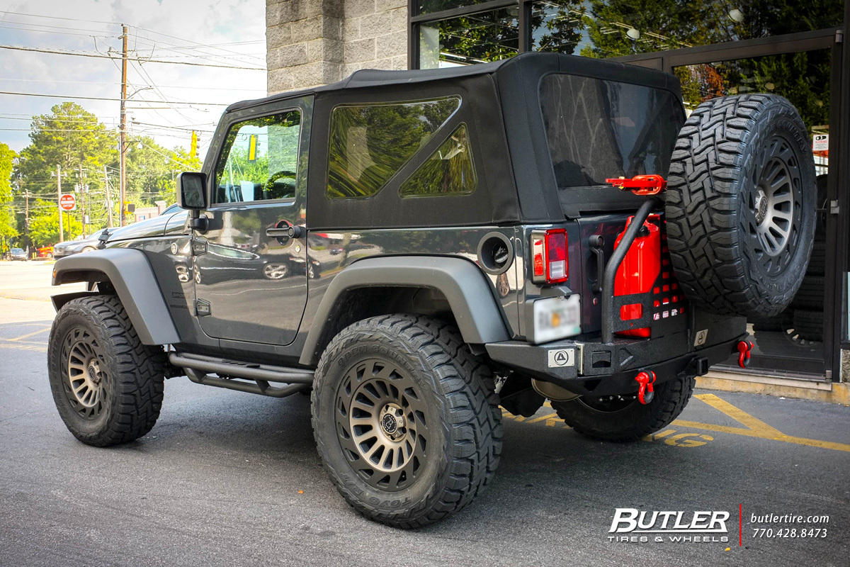 Jeep Wrangler with 20in Black Rhino Madness Wheels