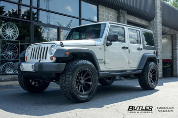 Jeep Wrangler with 20in Black Rhino Mint Wheels