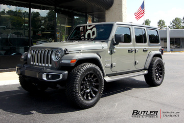 Jeep Wrangler with 20in Black Rhino Mission Wheels