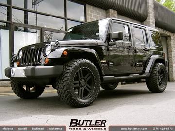 Jeep Wrangler with 20in Black Rhino Mojave Wheels