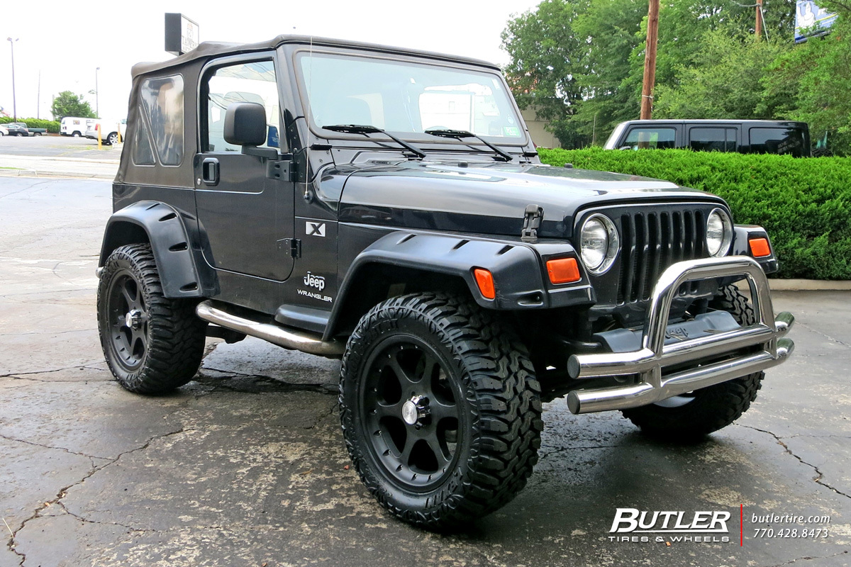 Jeep Wrangler with 20in Black Rhino Ocotillo Wheels