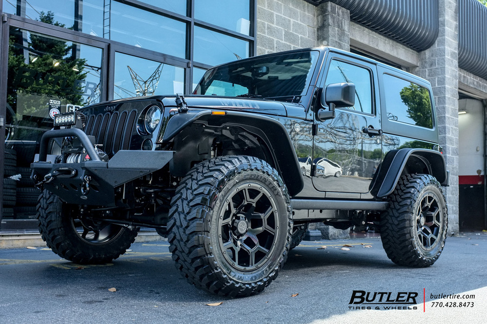 Jeep Wrangler With 20in Black Rhino Overland Wheels