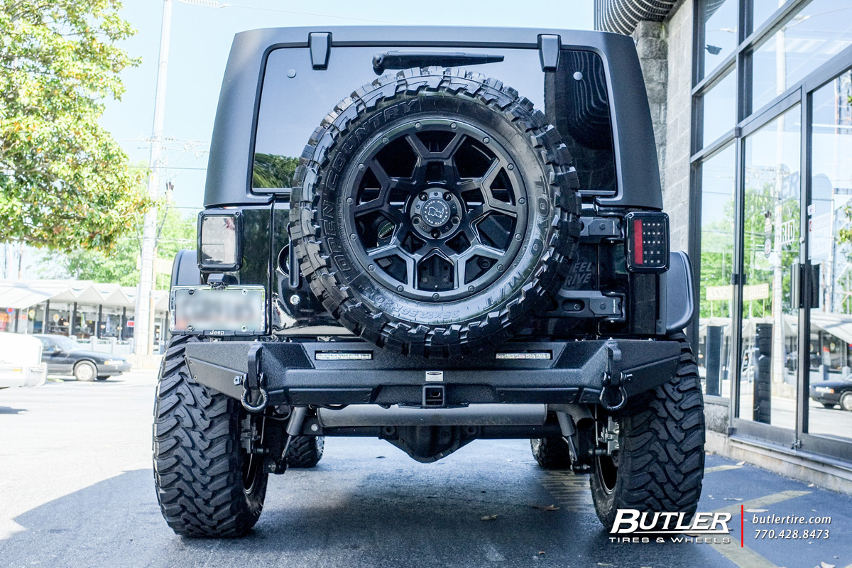 Lifted Black Jk >> Jeep Wrangler with 20in Black Rhino Overland Wheels exclusively from Butler Tires and Wheels in ...