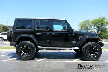 Jeep Wrangler with 20in Black Rhino Pinatubo Wheels