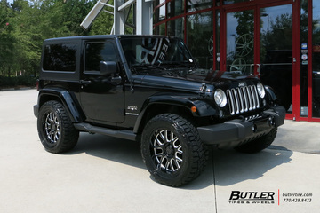 Jeep Wrangler with 20in Black Rhino Pismo Wheels