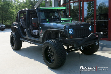 Jeep Wrangler with 20in Black Rhino Predator Wheels
