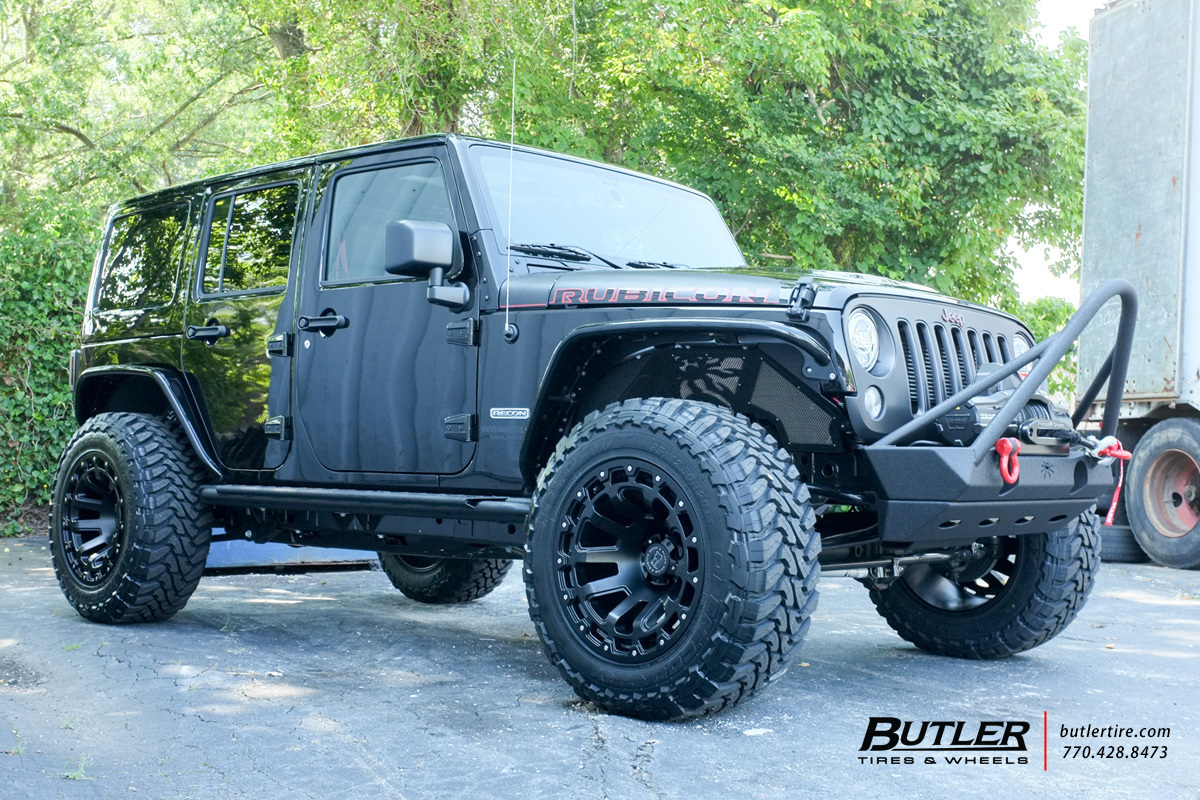Jeep Wrangler With 20in Black Rhino Razorback Wheels