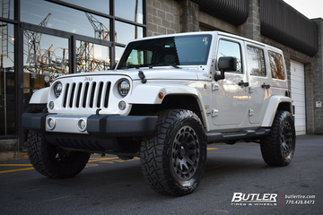 Jeep Wrangler with 20in Black Rhino Razorback Wheels