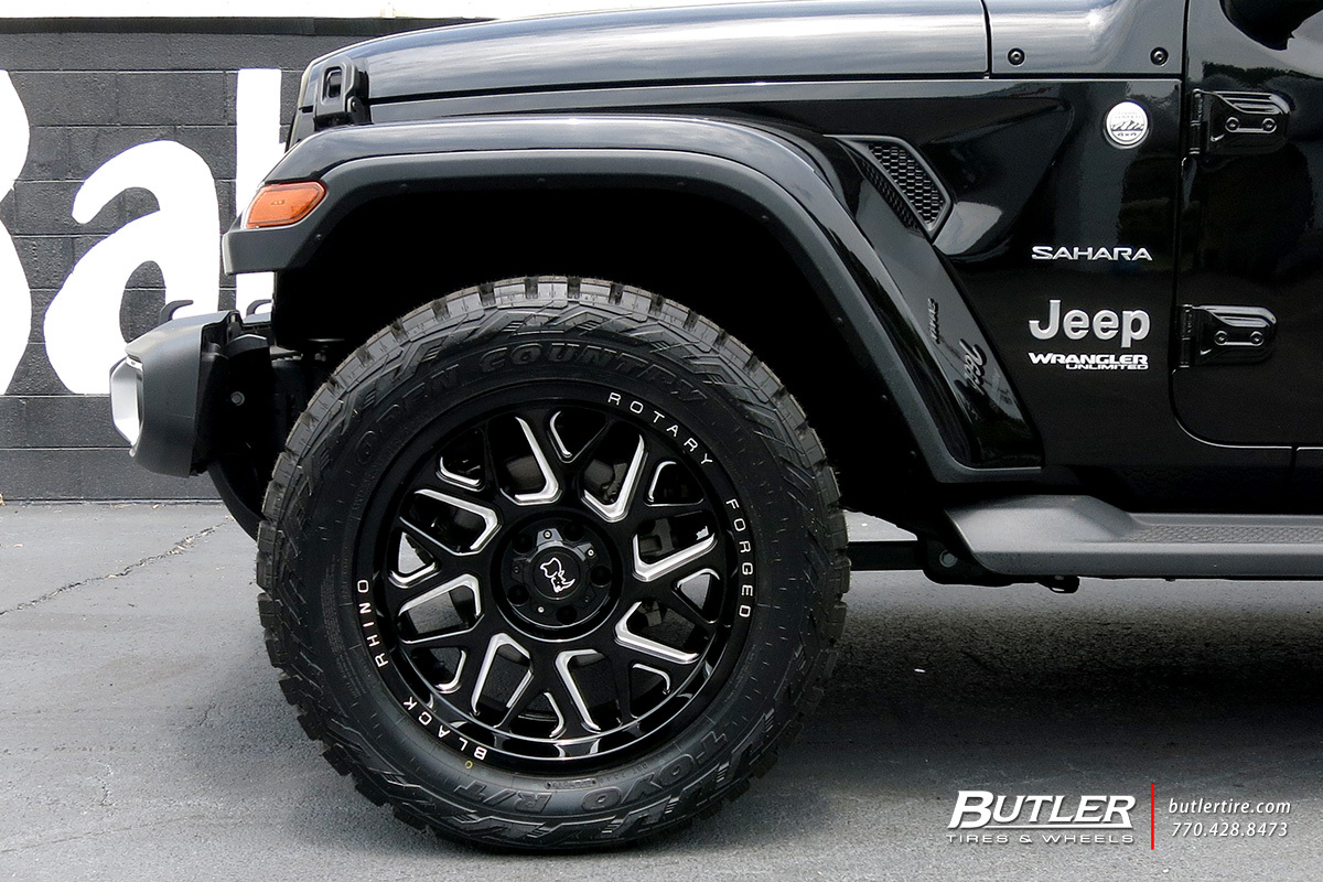 Jeep Wrangler with 20in Black Rhino Reaper Wheels