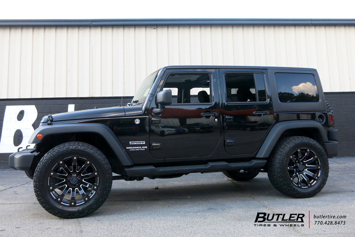 Jeep Wrangler With In Black Rhino Selkirk Wheels Extra Large