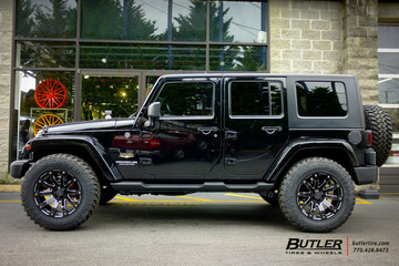 Jeep Wrangler with 20in Black Rhino Selkirk Wheels
