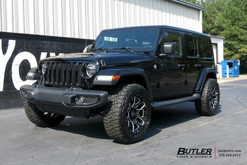 Jeep Wrangler with 20in Black Rhino Shrapnel Wheels
