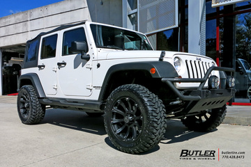 Jeep Wrangler with 20in Black Rhino Sidewinder Wheels