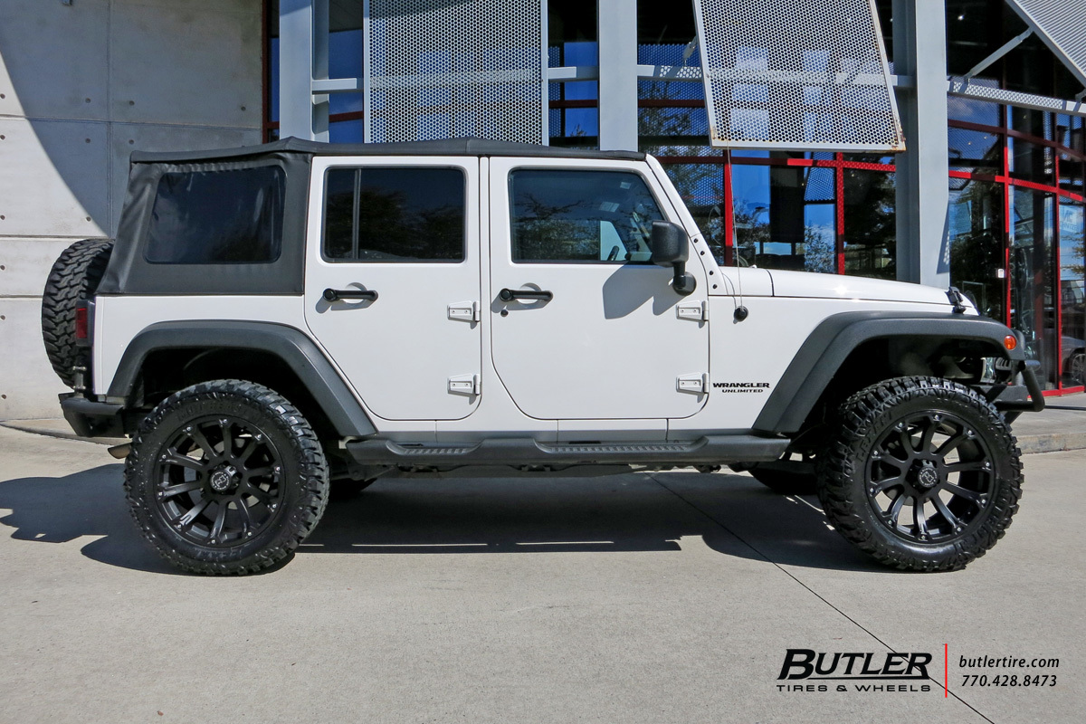 Jeep Wrangler Rhino >> Jeep Wrangler with 20in Black Rhino Sidewinder Wheels exclusively from Butler Tires and Wheels ...