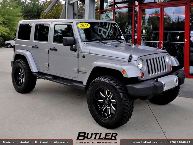Jeep Wrangler with 20in Black Rhino Sierra Wheels