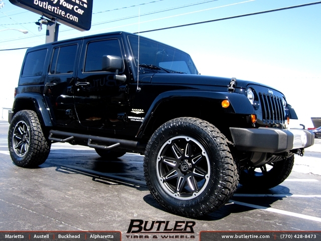 Jeep Wrangler with 20in Black Rhino Slide Wheels exclusively from