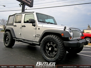 Jeep Wrangler with 20in Black Rhino Spinreel Wheels