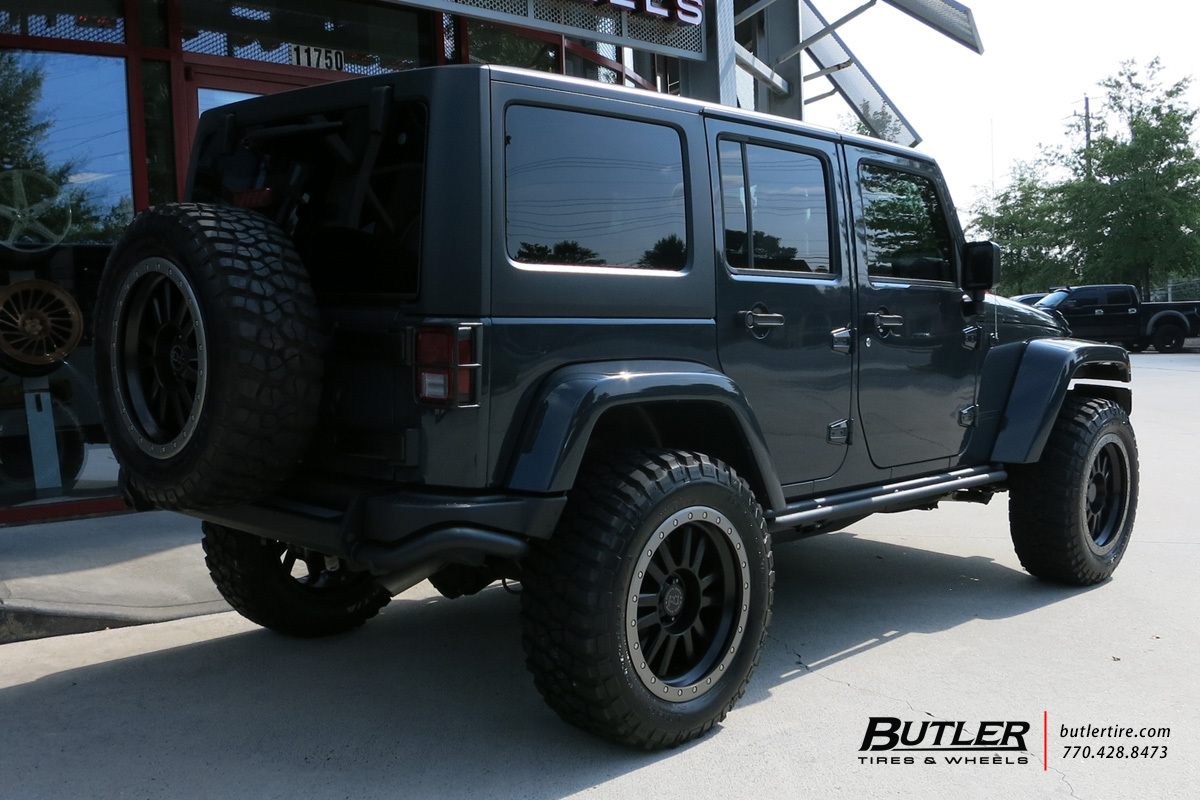 Jeep Wrangler with 20in Black Rhino Tanay Wheels