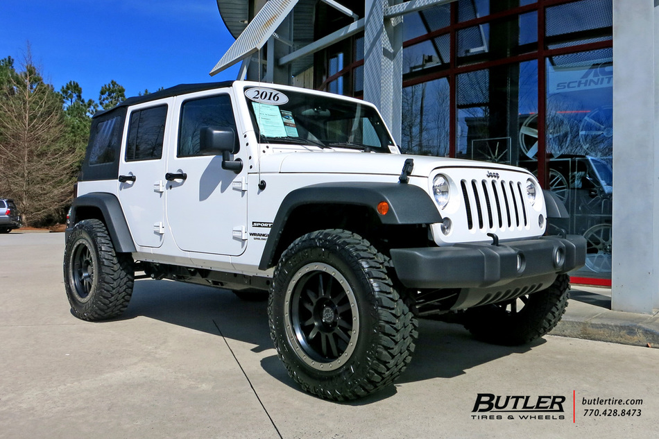 Jeep Matte Black >> Jeep Wrangler with 20in Black Rhino Tanay Wheels exclusively from Butler Tires and Wheels in ...