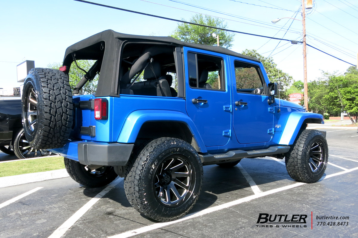 Jeep Wrangler with 20in Black Rhino Thust Wheels