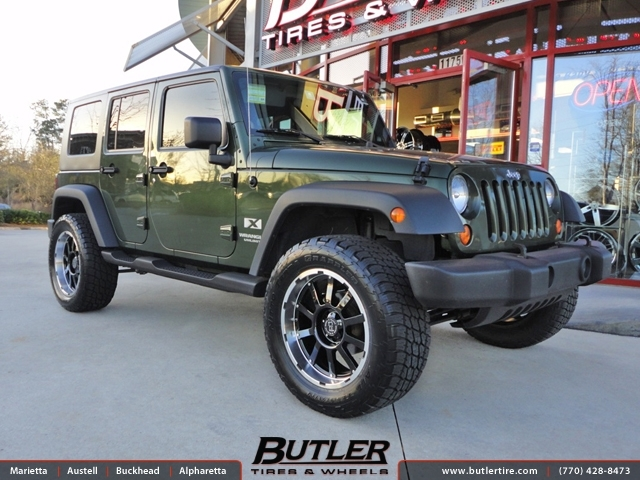 Jeep Wrangler with 20in Black Rhino Trail Wheels