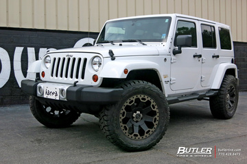Jeep Wrangler with 20in Black Rhino Warlord Wheels