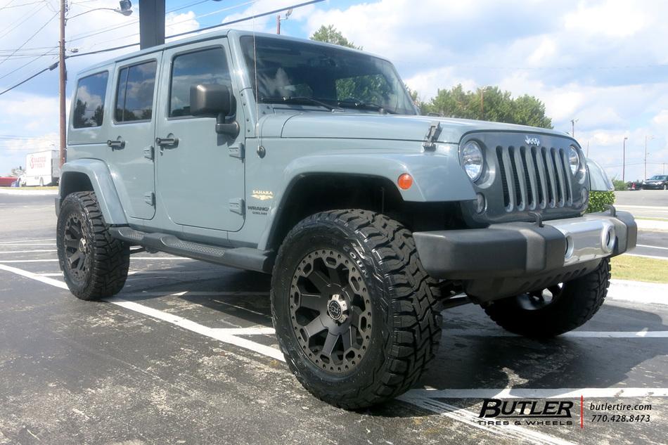 Jeep Wrangler Rhino >> Jeep Wrangler with 20in Black Rhino Warlord Wheels ...