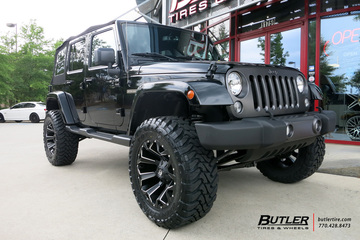 Jeep Wrangler with 20in Fuel Assault Wheels