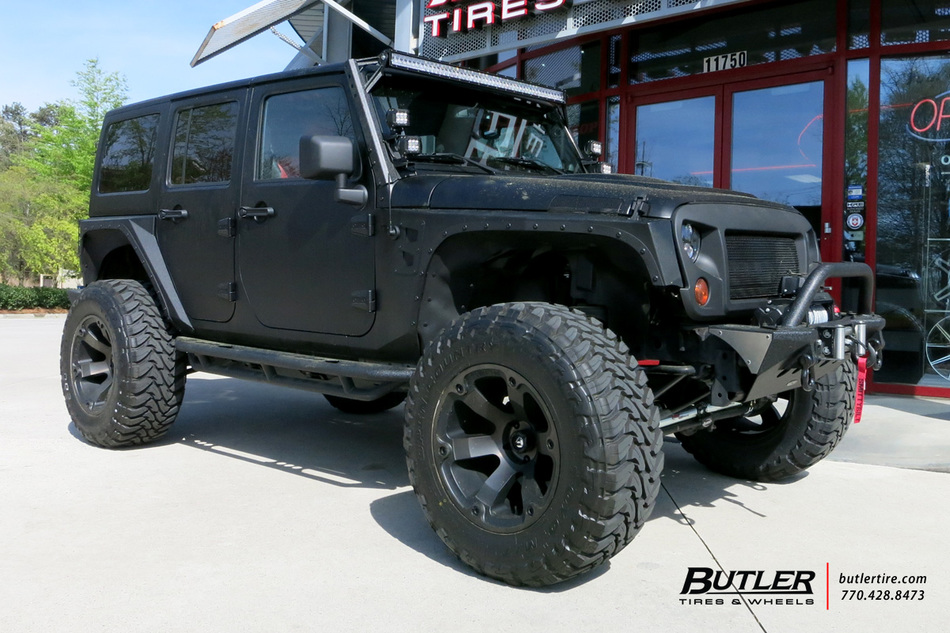 Jeep Wrangler With 20in Fuel Beast Wheels Exclusively From